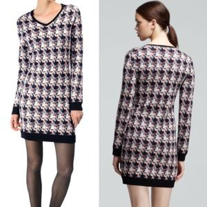 Rag & Bone Mariah Houndstooth Wool Sweater Dress